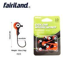 10pcs/pack Red Coated Fishing Hooks Soft Lures Jig Bait Holder Fishhook 14g 3/0#