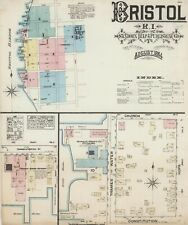 Bristol, Rhode Island~Sanborn Map© sheets 1884 to 1947 with 98 maps on the Cd