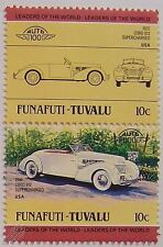 1937 AUBURN CORD 812 SUPERCHARGED Car Stamps (Leaders of the World / Auto 100)
