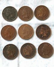 1900,1901,1902,1903,1904,1905,1906,1907,1908 Indian Head cent pennies  bh