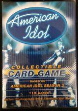 American Idol Collectible Card Game American Idol Season 110 Cards New