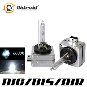 D1S HID Xenon Headlight Light Bulbs 6000K White OEM Replacement For BMW Audi VW