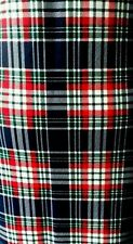 Size 16 Red Blue Tartan Check Quirky Midi Bodycon Fitted Dress NEW WITH TAGS