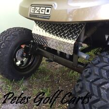 EZGO TxT Golf Cart Polished Aluminum Diamond Plate Front Shock Cover