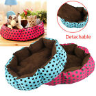 Cute Dot Fleece Pet Dog Puppy Cat Warm Soft Bed House Plush Cozy Nest Mat Pad