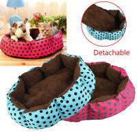Cute Dot Fleece Pet Dog Puppy Cat Warm Soft Bed House Plush Cozy Nest Mat Pad