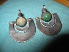 Mexico Sterling & Stone Midcentury Modern Screw on Earrings