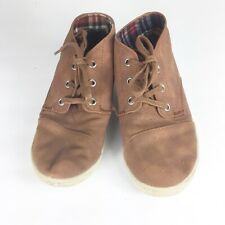 Toms Youth Size 3 Brown Lace Up Sneakers