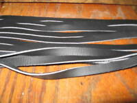 6 GENUINE TOP GRAIN LEATHER SADDLE STRINGS 34 IN BLACK 3/8 inch