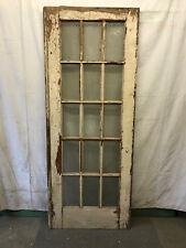 15 Lite Exterior Door Panes of Flat Glass Architectural Salvage Vintage 33x84