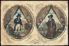1820 William Darton Masonic Broadside 'Keep Within Compass'