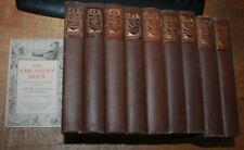 1907 THE CHILDREN'S HOUR stated 1st edition 9 OF 10 VOLUMES PLUS GUIDE illust