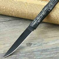 Bamboo Pattern Folding Knife Hunting Camping Tactical Outdoor Mini Pocket