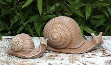 sculpture en pierre escargots 2er Set Figurine décorative Sculpture d'animal
