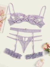 Purple bra and panty set