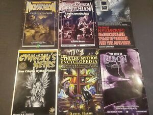 9 Used Book Lot Necronomicon Lovecraft Cthulhu Chaosium