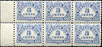 Mint NH Canada Newfoundland 1939 Block of 6 3c F+ Scott #J3 Postage Due Stamps