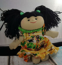"Hawaiian Plush Keiki Aloha Doll 9"" Muu Muu Dress with Animals Souvenir Regency"