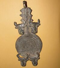 African Bronze Buffalo Cow Bull OX Pendant Baule Burkina Tuareg Talisman Amulet