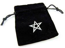 Rune Runes Bag Crystal Stones Pouch Tarot Gift Pentagram Velvet Embroidered NEW