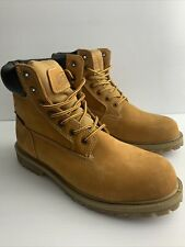Coleman Workwear Waterproof Work Boot Insulated Size 11M, Oil Resistant Sole Tan