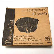 Pampered Chef Stoneware Classics Fluted Pan Bundt Cake Stoneware 1440
