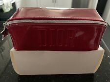 New in box  DIOR Red Patent Leather Makeup Bag/Pouch with Star Pull-up