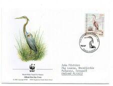 CROATIA  2004 WWF  FDC  Endangered Species.  Purple Heron  SG754