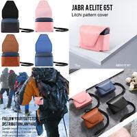 Leather Bag Case Cover Skin for Jabra Elite 65t True Wireless Earbuds Headphones