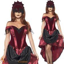 Ladies Venetian Temptress Costume Gothic Burlesque Halloween Fancy Dress Outfit
