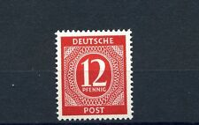 12 Pfg. Kontrollrat Ziffer 1946** dickes Papier Michel 919 a x geprüft (S9971)