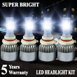 9006+9005 LED Headlight 4200W 630000LM Hi-Lo Beam Combo Kit 6000K HID Lamp C6
