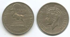 H0776 - Southern Rhodesia Two Shilling 1949 KM#23 Antilope Südrhodesien