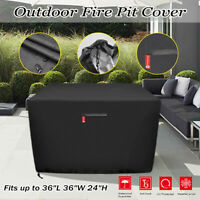 "36""Gas Fire Pit/Table Cover 210D Premium Patio Outdoor Cover Waterproof Square"""