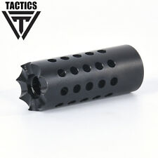 5/8x24 Tpi Compact Size Steel Muzzle Brake For 308/ 7.62 /Crush Washer + Nut