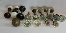 Lot 21 Glass Crystal-Brass-Porcelain Antique Architectural Salvage Door Knobs