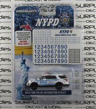 GREENLIGHT 1:64 Hobby Only NYPD 2016 FORD EXPLORER Police Interceptor w/Decals