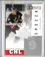 JASON SPEZZA 2001 UD CHL PROSPECTS GAME USED JERSEY ~ ROOKIE