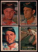 1957 Topps #156 Gus Triandos SIGNED PSA DNA BAS Beckett Pre-Cert Balt. Orioles