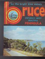 Bruce Ontario's Most Beautiful Peninsula 1960s Canada Brochure Bright Blue Water