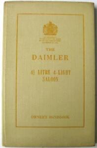 DAIMLER 4 1/2 Litre 4-light Saloon 1956 R27/010/272 Original Owners Car Handbook
