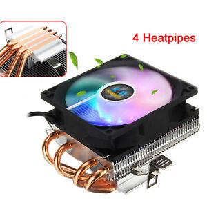 Disipador de calor LED de ventilador doble CPU para Intel LGA775 / 1156 AMD AM3
