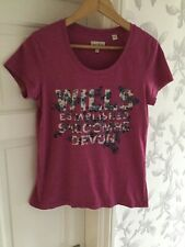 Jack Wills Womens Pink Ourple T-shirt Size 10
