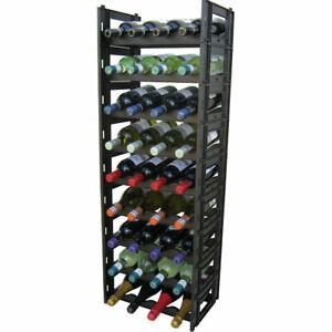 EziRak 36 Bottle Plastic Self Assembly Wine Rack - Black