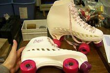 womens capri white plastic roller derby roller skates size 7-8