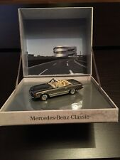 Rare Mercedes 350 sl r107 Anthracite Grey Musée 1:43 Minichamps (Dealer Model)