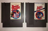 Bases Loaded [1 & 2] I & II: Second Season Nintendo NES 2 Games Cleaned & Tested