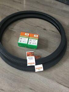 (Pair of) 24 X 1 3/8   Black Duro  Tyres & Tubes