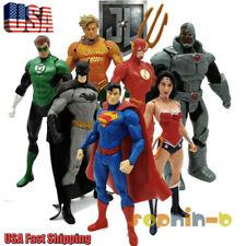 7Pcs DC Justice League 7'' Superman Batman Flash Aquaman Cyborg Action Figure