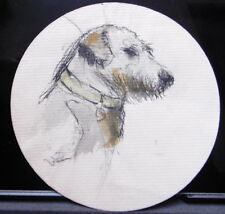 Dessin  Aquarelle PAUL COUVREUR - Portrait Chien profil gauche vers 1930 - PC175